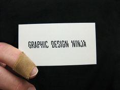 ¿Qué te parece esta #tarjeta del diseñador #gráfico ninja? ¡Envíanos tus #ideas, #anuncios, #ilustraciones, #tarjetasdevisita, #currículum, etc.) a info@adaspirant.com y las promocionaremos en nuestro portal, facebook, twitter y pinterest!