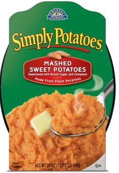 Simply Potatoes offers Mashed Sweet Potatoes for the Holidays