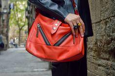 A/W14, leather, Faux Leather, Kenzo Kalifornia Bag, Bershka, Zara, Vagabond, Outfit, StyleSpectra, Fashion blog,
