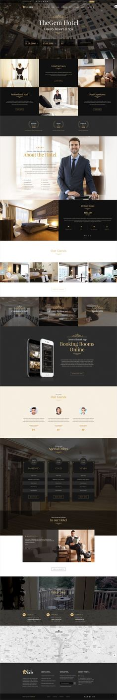 TheGem is creative multipurpose #PSD template for awesome #hotel #hospitality websites and huge variety of design or web projects with 50  homepage layouts
