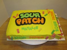 Sour Patch Box Cake