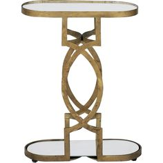 Natasha Art Deco Antique Brass Geometric Side End Table (¥49,370) ❤ liked on Polyvore featuring home, furniture, tables, accent tables, home decor, art deco, art deco style furniture, geometric table, art deco end table and geometric side table