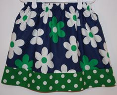 Flowers and Dot  Skirt    Size 2 to 7 by bubblenbee on Etsy, $14.95
