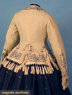 EMBROIDERED WOOL JACKET, c. 1860