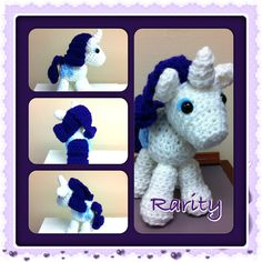 My Little Pony Rarity Crochet Amigurumi