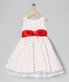 Take a look at this Red Polka Dot Bow Dress - Infant, Toddler & Girls by Kid Fashion on #zulily today!