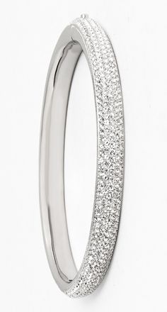 Totally crushing on this crystal encrusted bangle.