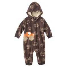 JUST+ONE+YOU®+Made+by+Carters+Newborn+Boys'+Jumpsuit+-+Brown/Orange