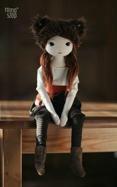 RomaSzop: Winter is coming :) Doll Crafts, Diy Doll, Muñeca Diy, Creation Couture, Doll Maker, Sewing Toys, Soft Dolls, Stuffed Toys Patterns, Cute Dolls