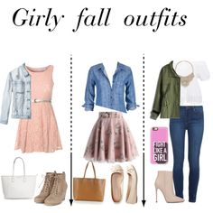 Girly outfits by sealysunflower on Polyvore featuring polyvore, fashion, style, Glamorous, maurices, Boohoo, RVCA, Chicwish, Paige Denim, Akira Black Label, Aéropostale, Tory Burch, Bebe and Casetify