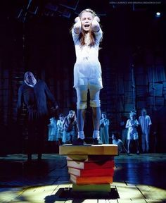 Matilda the Musical Broadway - Matilda the Musical Photo - Fanpop Matilda Cast, Matilda Broadway, Broadway Shows, Oona Laurence, Matilda Costume, Peter And The Starcatcher, Broadway Costumes, Music Theater, Actors & Actresses