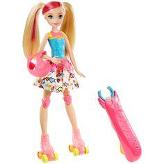 Barbie Video Game Hero Light-Up Skates Barbie Doll | DTW17 | Barbie