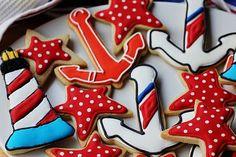 Lone Stars and Stripes: coast guard cookies