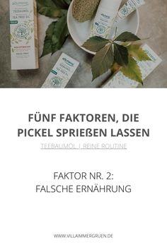 Teebaumöl |Reine Routine - Faktor Nr. 2: Falsche Ernährung Stress, Peeling, Routine, Plants, Organic Beauty, Plant, Psychological Stress, Planets