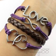 Infinity karma love bracelet. So cool I love the colors they make the bracelets pop