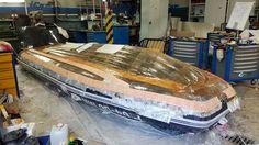 Изготовление ложемента для перевоза резиновой лодки.