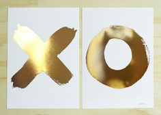 XO Gold Foil Print Set Blacklist http://www.blackliststore.com.au/products/whats-new/xo-gold-foil-print-set