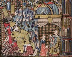 MS. Bodl. 264 The Romance of Alexander in French verse 1338-44; with two sections added in England c. 1400 Folio 43v