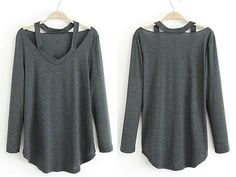 "LivingSocial Shop: ""Cut Loose"" Long Sleeve Shirt"