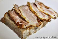 Nakládaný domácí bůček - není nic lepšího než bůček s chlebem Food 52, Graham Crackers, Pork Recipes, Preserves, Sandwiches, Deserts, Good Food, Food And Drink, Low Carb