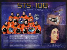 STS-108 Crew poster