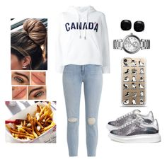 """""""Try the Famous Poutine"""" by teodoramaria98 ❤ liked on Polyvore featuring J Brand, Alexander McQueen, Dsquared2, Kate Spade and MICHAEL Michael Kors"""