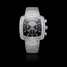 Piaget Limelight chronograph watch in white gold diamond