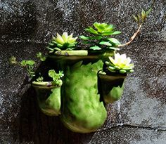 Wall Planters, Flower Planters, Hanging Planters, Flower Pots, Flowers, Outdoor Walls, Outdoor Gardens, Porcelain, Vegetables