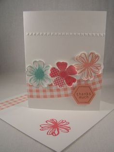 Simple Thank You Card, How to make cards, Stampin' Up! Card Idea, Flower Shop  www.stampingcountry.com Where Creativity Blooms