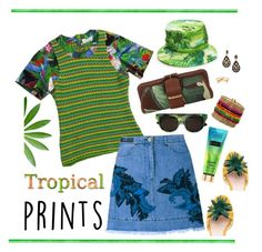 """Hot Tropics"" by musicfriend1 ❤ liked on Polyvore featuring Altuzarra, Kate Spade, Michael Kors, Diesel, Lee Renee, BaubleBar, House of Holland, tropicalprints and hottropics"