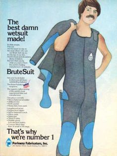 Parkway Best Damn Wetsuit Ad, Dive History