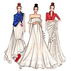 favs from jayantireddylabel collection 648166571349568338 Dress Design Sketches, Fashion Design Sketchbook, Fashion Design Drawings, Fashion Sketches, Fashion Drawing Dresses, Fashion Illustration Dresses, Dress Illustration, Fashion Illustrations, Moda Fashion