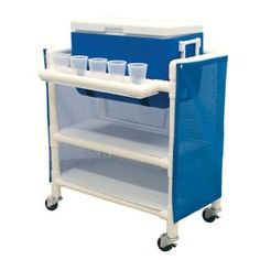 Ice Cart with Two Storage Shelves