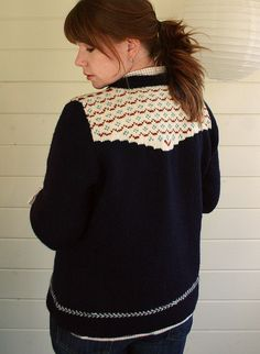 rockabilly cardigan by small::bird, pattern from hill country weavers