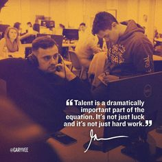 """Guys .. Talent matters .. Push yourself and your loved ones to find that talent and try things if you haven't already ... Hard work is key but mannnnnnn does it help to have talent to """"catch"""" that hard work"""