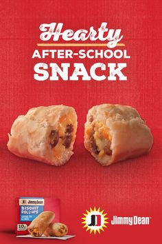 When your kiddos roll in from school, give them a hearty after-school snack—like new Jimmy Dean Biscuit Roll-Ups. Banana Recipes, Donut Recipes, Smoothie Recipes, Low Carb Recipes, Cookie Recipes, Snack Recipes, Snacks, Breakfast Recipes, Turkey Burger Recipes