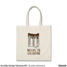 Brooklyn Bridge Valentine NYC Valentine's Day Tote
