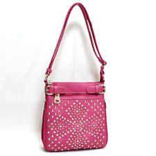 39befe20be1a Women Messenger Bag Purse Pink Rhinestone Austrian Crystals Shoulder Studded  New Fossil Handbags