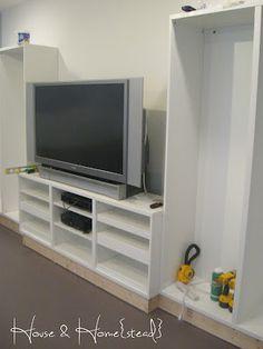 IKEA Besta built-ins on the blog!