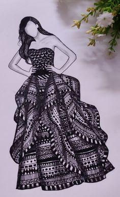 Dress Design Drawing, Dress Design Sketches, Fashion Design Sketchbook, Fashion Design Drawings, Fashion Sketches, Fashion Drawing Dresses, Fashion Illustration Dresses, Dress Fashion, Drawings Of Dresses