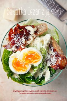 Ceasar Salad with Egg, Becon & Croutons