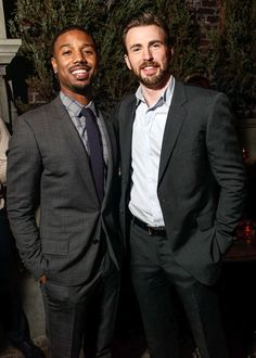 Chris Evans and Micheal B picture I didn't know I needed, did i save this picture or did it save me?!<<< both Johnny Storms in one picture ♥️♥️