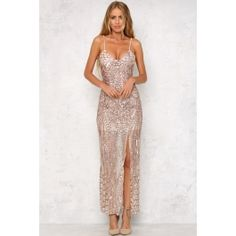 The All Of The Lights Maxi Dress has a v-neck front supported on thin, adjustable straps. Style yours with a dark, smokey eye for impact! Lined. Prom Dresses, Formal Dresses, Wedding Dresses, All Of The Lights, Pretty Dresses, Jumpsuit, Bronze, Lighting, Chic