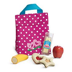 American Girl® Accessories: Bitty Twins Snack Set- Evelyn got this from Santa; it is so cute