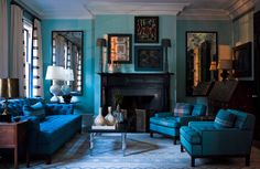 Steven Gambrel, West Tenth St, NYC this is like stepping into a Picasso