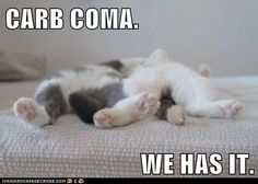 CARB COMA.  WE HAS IT.