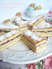 Érsek szelet Salty Snacks, Cake Bars, Vanilla Cake, Tiramisu, French Toast, Dessert Recipes, Food And Drink, Cooking Recipes, Sweets