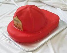 For Dave : )  Fireman helmet cake---