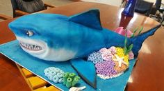 Bruce the shark from finding Nemo - Cake by Cakes by Lizelle