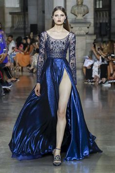 Georges Hobeika Fashion Show couture Fall Winter 2017 Collection in Paris